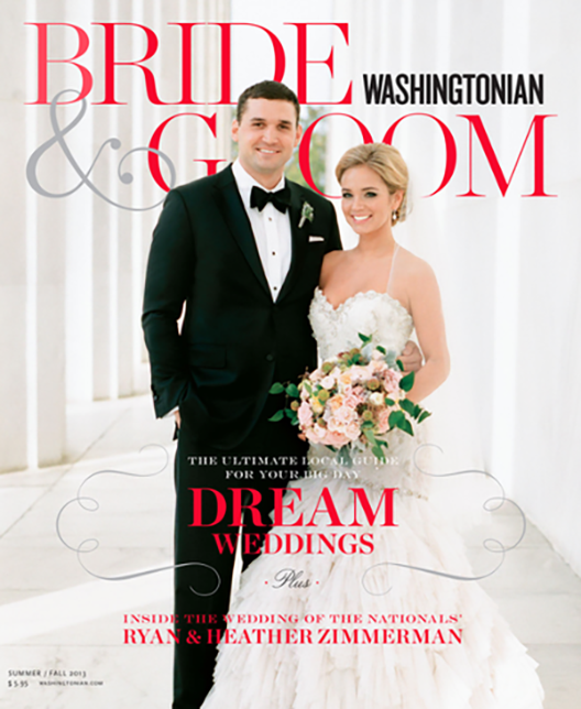 Feature Wedding Heather And Ryan Zimmerman Washingtonian Bride Groom Cover